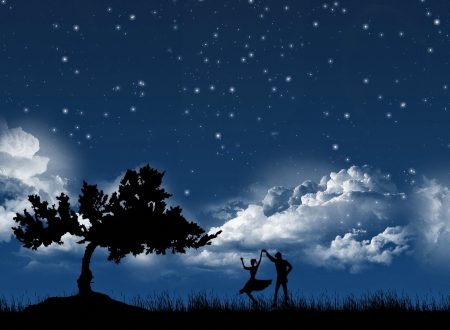 Sotto un cielo notturno